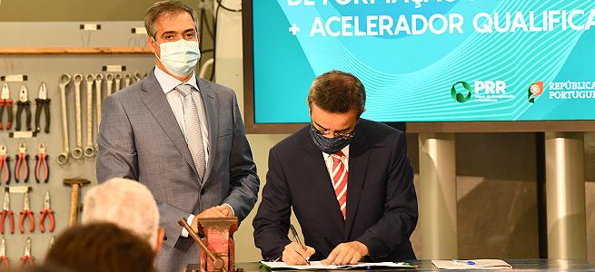 """Imagem da notícia Modernização dos Centros de Formação Profissional: IEFP assina contrato com a """"Recuperar Portugal"""""""